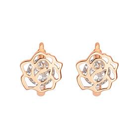 18k rose earring / earrings [overnightdelivery]