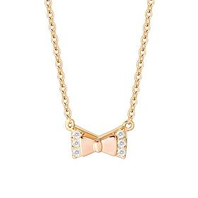 18K Cubic Ribbon Necklace
