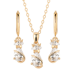 14K / 18K catgirl set [Necklace + earring]