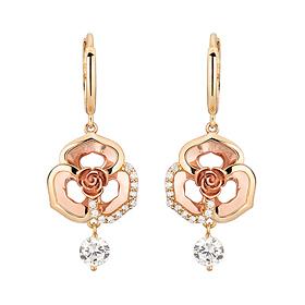 18K Barbara Rose earring