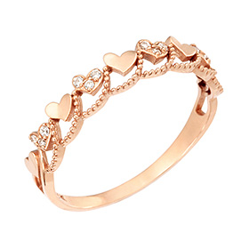 14K / 18K Love wave ring