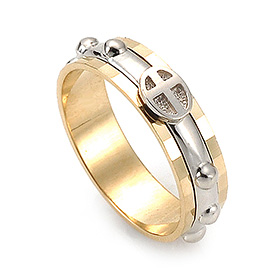 14K / 18K R168 piece rotating rosary ring