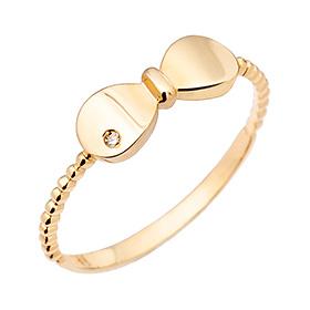 14K / 18K dongle ribbon ring