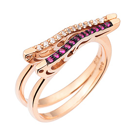 14K / 18K double-sided wave ring