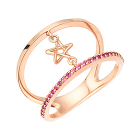 14K / 18K Ring of Stars ring