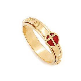 14K / 18K R268 Rotating Rosary Ring