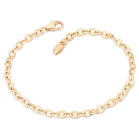 14k / 18k simple cord hollow (small) bracelet