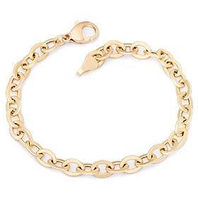 14k / 18k simple morden hollow (large) bracelet