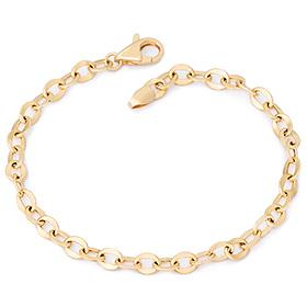 14k / 18k simple wave hollow medium bracelet