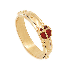 14K / 18K R273 Rotating Rosary Ring