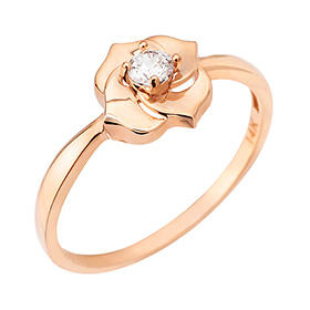 14k / 18k Vane Rose ring