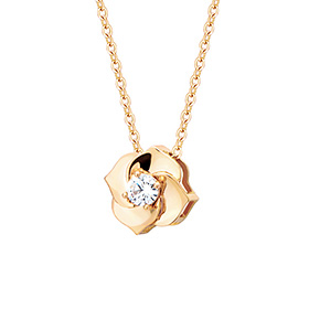 14K Bane Rose-yellow cubic necklace