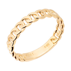 14K / 18K twisted wave ring