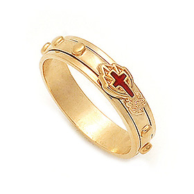 14K / 18K R281 Rotating Rosary Ring