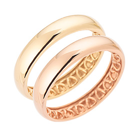 14K / 18K Love volume Pink & yellow ring