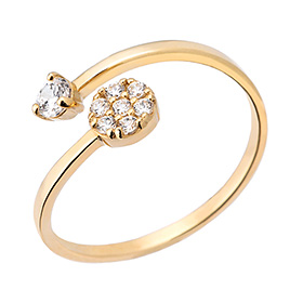14K / 18K double flower ring