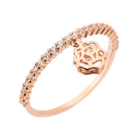14K / 18K rose fragrance ring