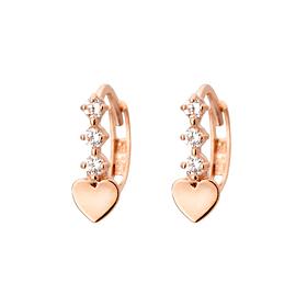 14K / 18K love flower earring / earrings (overnightdelivery)