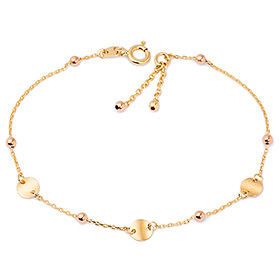 14k / 18k double rattle bracelet