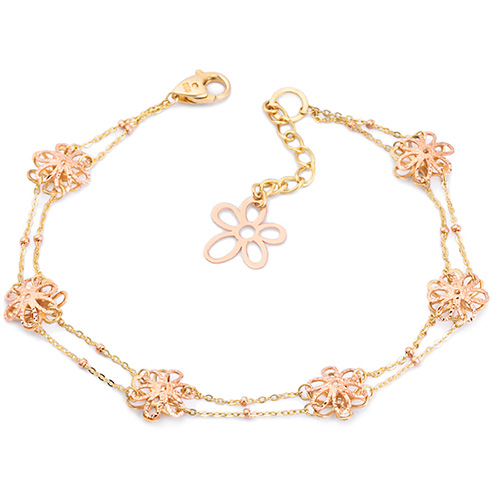 14k / 18k flower with bracelet [overnightdelivery]