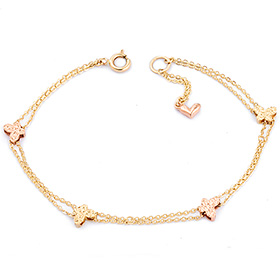 14k / 18k baby butterfly bracelet [overnightdelivery]