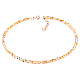 14k / 18k tight double wristlet