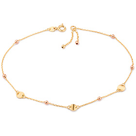 14k / 18k double rattle anklet