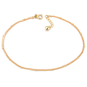 14k / 18k Coloring point two lines anklet [overnightdelivery]