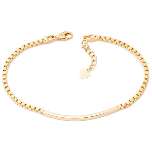 14k simple stick line bracelet