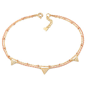 14k / 18k zenia two lines anklet
