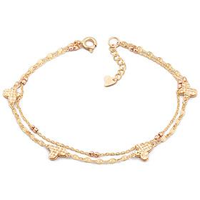 14k / 18k della butterfly two lines bracelet