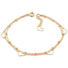 14k / 18k Eco Heart two lines bracelet