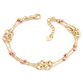 14k / 18k Sweet dongle two lines bracelet