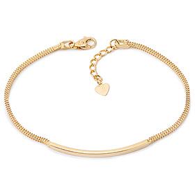 14k / 18k simple tight stick line bracelet
