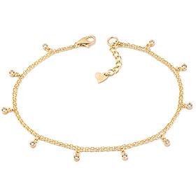 14k / 18k sun shiny two lines bracelet