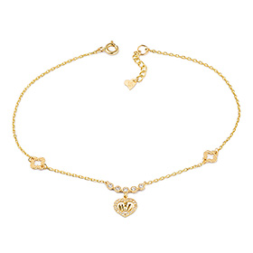 14k Sweet Queen anklet [overnightdelivery]