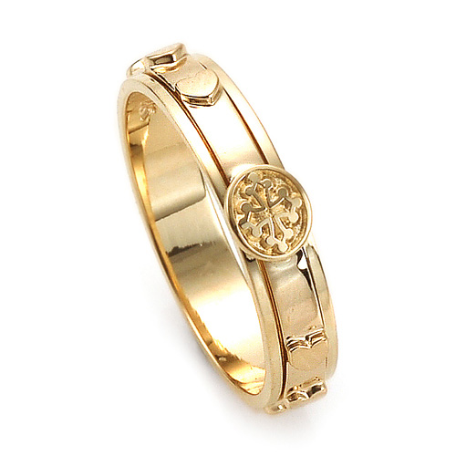 14K / 18K R205 Rotating Rosary Ring