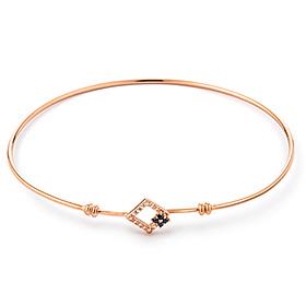 14K / 18K Marie Square Bangle Bracelet