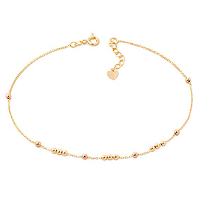 14k / 18k twin beads anklet