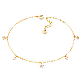 14k / 18k simple star anklet