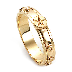 14K / 18K R206 Rotating Rosary Ring