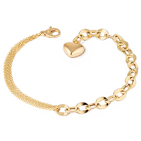 14k / 18k half hollow (medium) bracelet