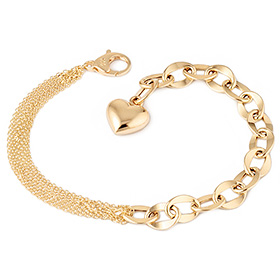14k / 18k Half Hollow (large) bracelet [overnightdelivery] + Shopping bag present