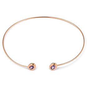 14K Purple Candy Bangle Bracelet