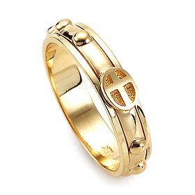 14K / 18K R207 Rotating Rosary Ring