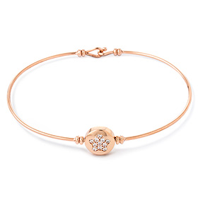 14K / 18K Love Star double-sided initial bangle bracelet
