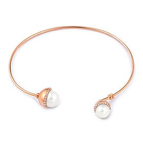 14K / 18K Coil Seawater Pearl Bangle Bracelet