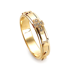 14K / 18K R209 Rotating Rosary Ring