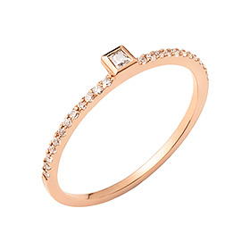 14K / 18K simple square ring