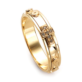 14K / 18K R210 Rotating Rosary Ring